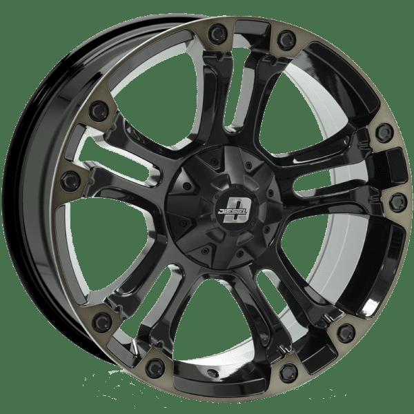 diesel brooklyn gloss black dark tint wheels rims 4x4 4wd
