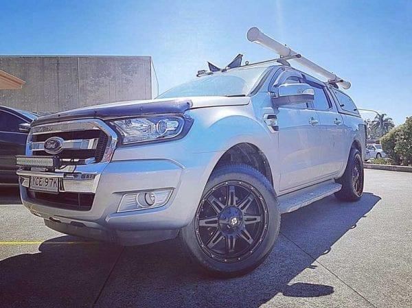 diesel renegade v2 machined gloss black wheels rims 4x4 4wd