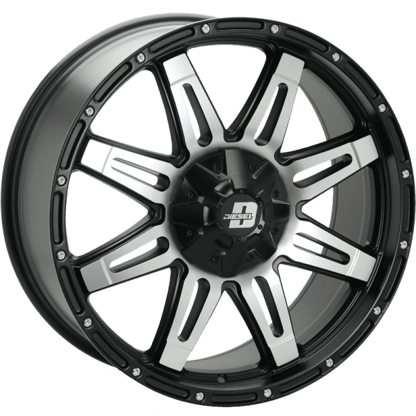 diesel renegade v2 machined gloss black wheels rims 4x4 4wd
