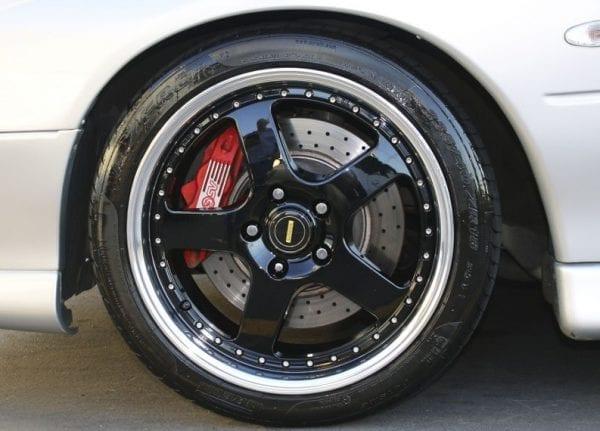 simmons fr1 gloss black 5 spoke dish wheels