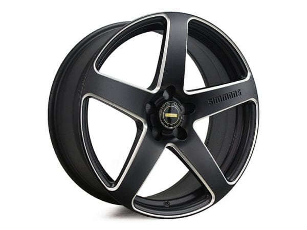 simmons frc satin black milled 5 spoke concave wheels rims