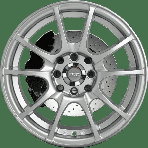 ssw challenge silver black wheels jdm concave