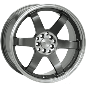 ssw drifter gunmetal grey polished dish jdm wheels