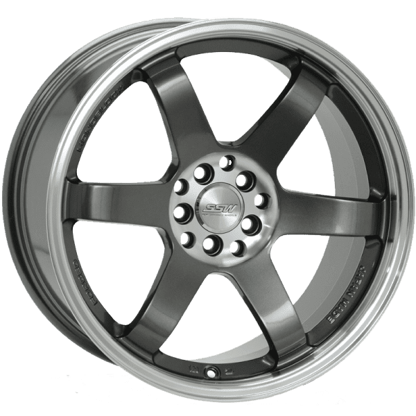 ssw drifter gunmetal grey polished dish jdm wheels