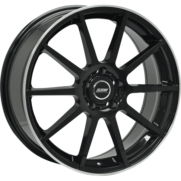ssw elegance silver polished gloss black concave euro wheels