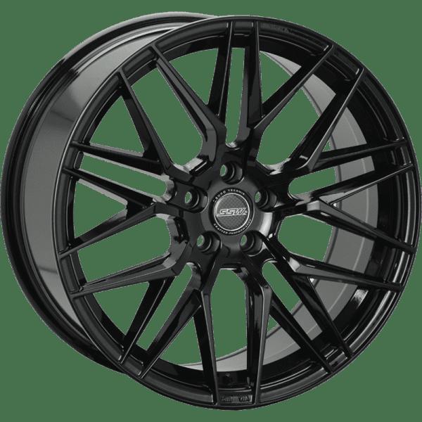 ssw hockenheim hyper gloss black mesh concave wheels rims