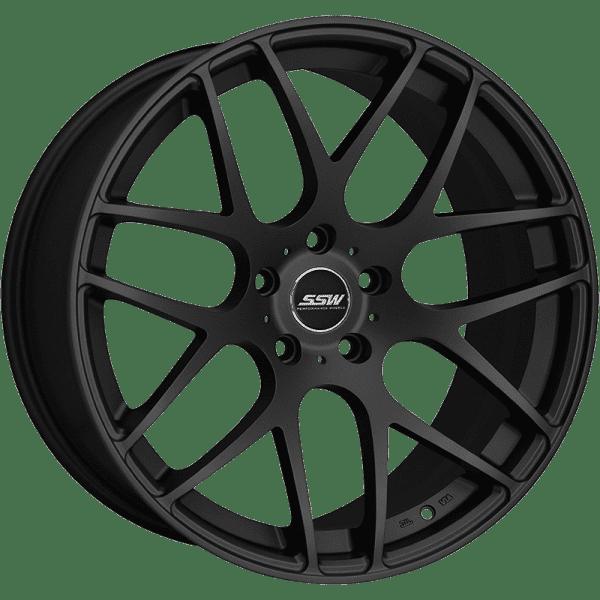 ssw mspec matte black silver mesh concave wheels rims