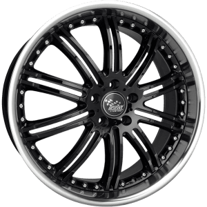 ssw phantom deep dish full polished machined gloss black wheels rims