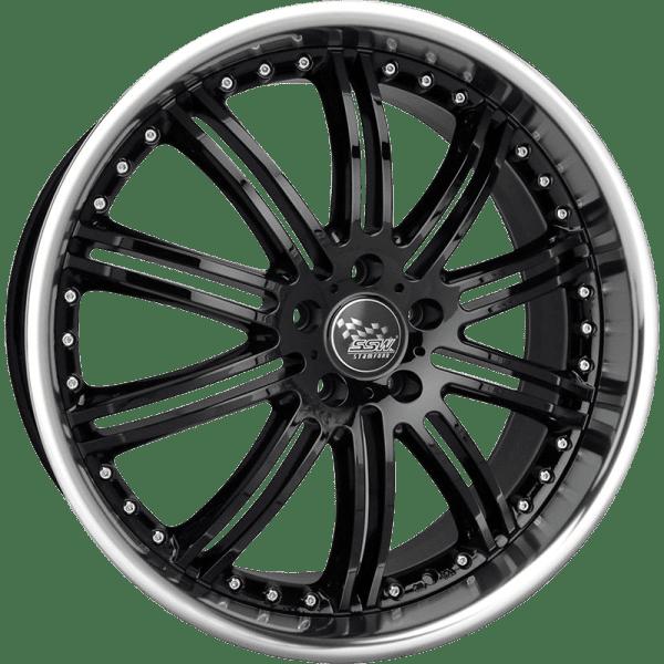 ssw phantom deep dish full polished machined gloss black wheels rims