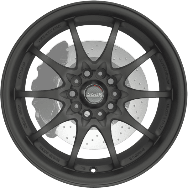 ssw rotate matte black spoke wheels rims