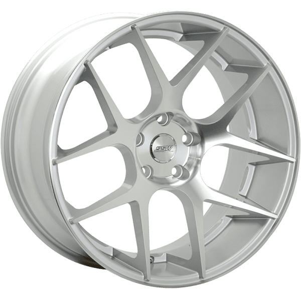 ssw stage silver polished face matte black concave dish wheels rims