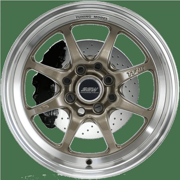 ssw tuning bronze 8 spoke dish bronze gloss black polished jdm wheels rims
