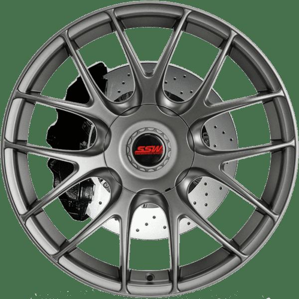 ssw valencia matte gunmetal grey mesh wheels rims