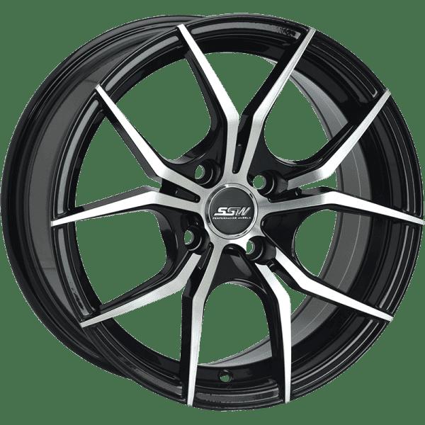 ssw venom gloss black machined matte black wheels rims