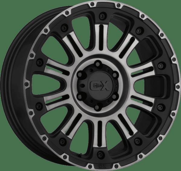 kmc xd829 hoss 2 matte black dark tint gloss black wheels rims 4x4 4wd