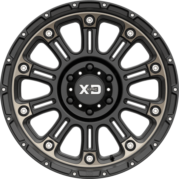 kmc xd829 hoss 2 matte black dark tint gloss black wheels rims 4x4 4wd