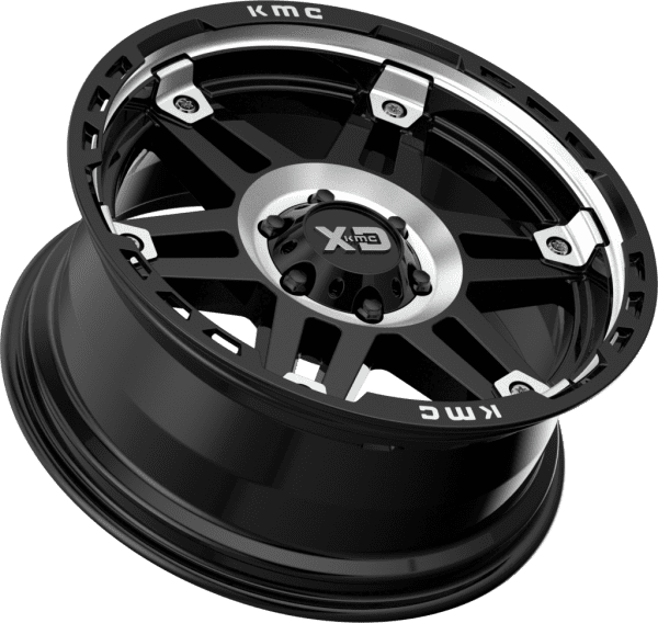 kmc kmc xd840 spy 2 gloss black machined dark tint wheels rims 4x4 4wd