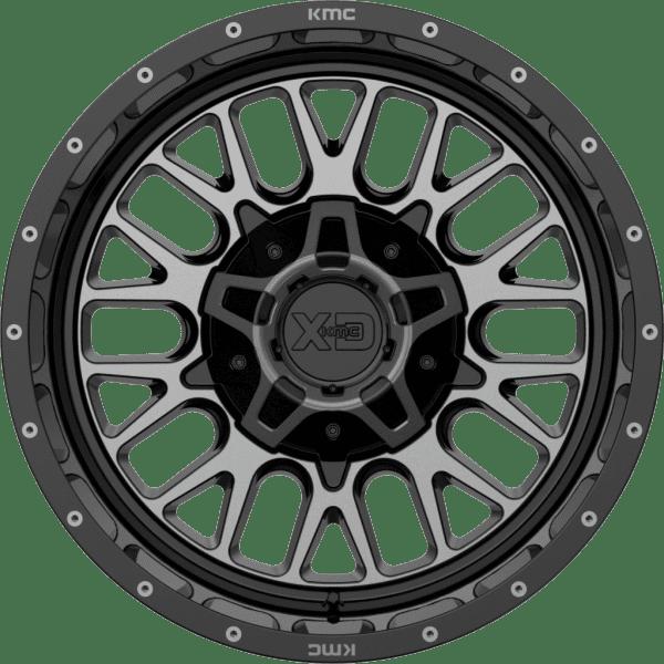 kmc xd842 snare gloss black grey tint satin black wheels rims 4x4 4wd