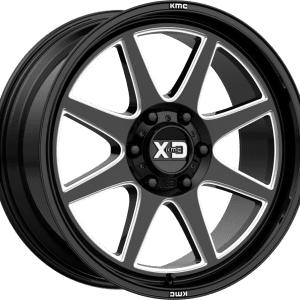 kmc xd844 pike gloss black milled wheels rims 4x4 4wd