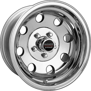 american racing baja ar172 polished wheels rims dish muscle car