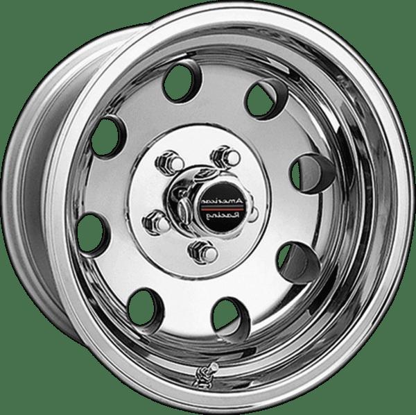 american racing baja ar172 polished wheels rims dish muscle car