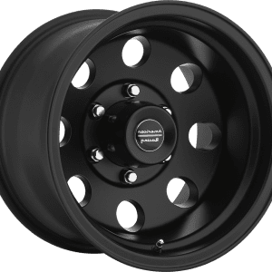 american racing baja ar172 black wheels rims dish muscle car