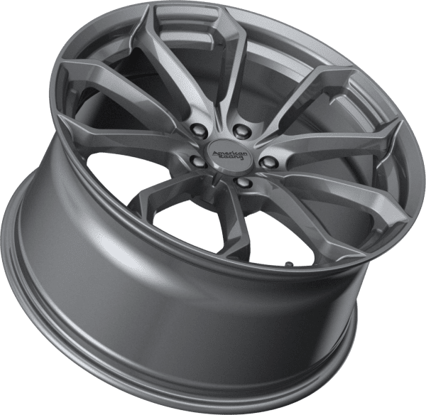 american racing ar932 splitter concave wheels rims graphite grey
