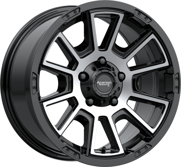 american racing ar933 gloss black machined wheels rims 4x4 4wd