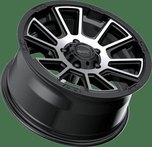 american racing ar933 gloss black machined wheels rims 4x4 4wd