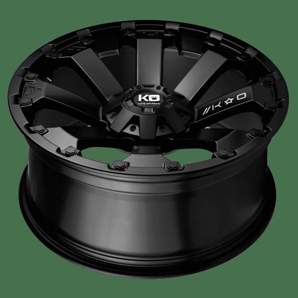 king ambush satin black wheels rims 4x4 4wd