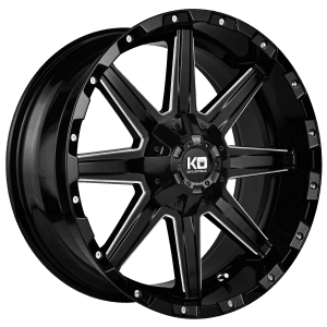 king blade gloss black milled wheels rims 4wd 4x4