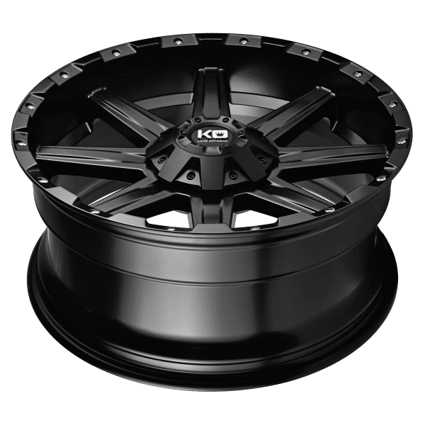 king blade matte black wheels rims 4wd 4x4