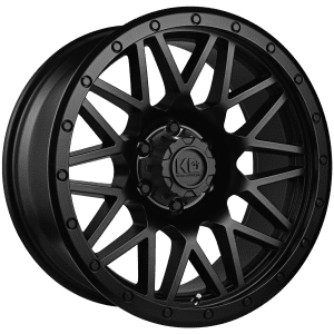king chaos satin black wheels rims 4x4 4wd