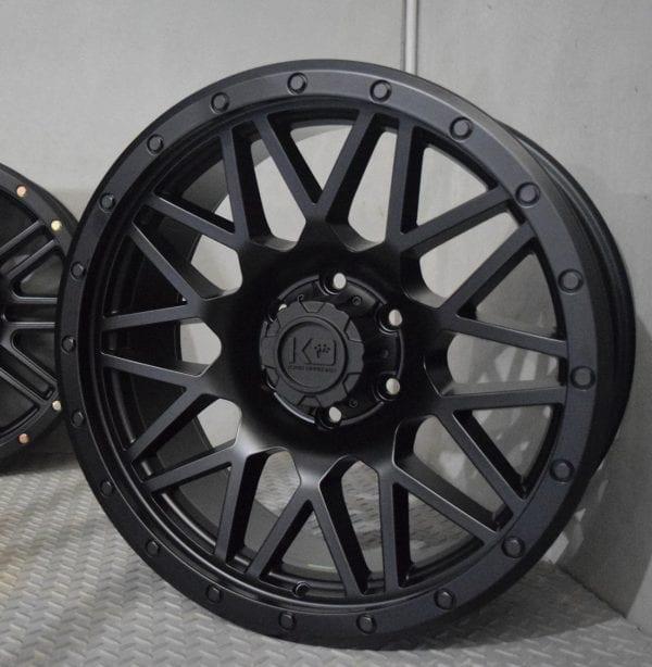 king chaos satin black wheels rims 4x4 4wd