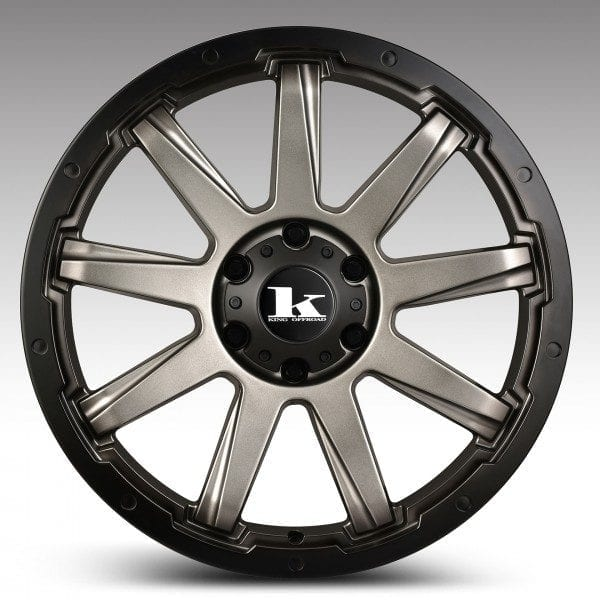 king gator satin gunmetal grey spoke wheels rims 4wd 4x4