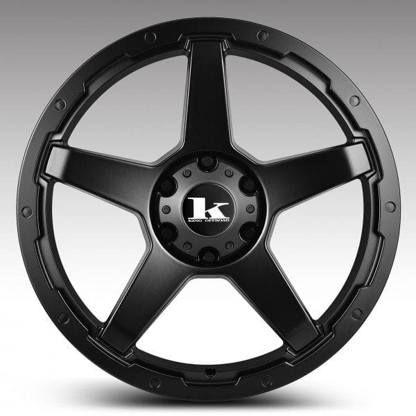 king leech satin black 5 spoke wheels rims 4wd 4x4