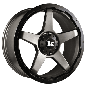 king leech satin gunmetal grey 5 spoke wheels rims 4wd 4x4