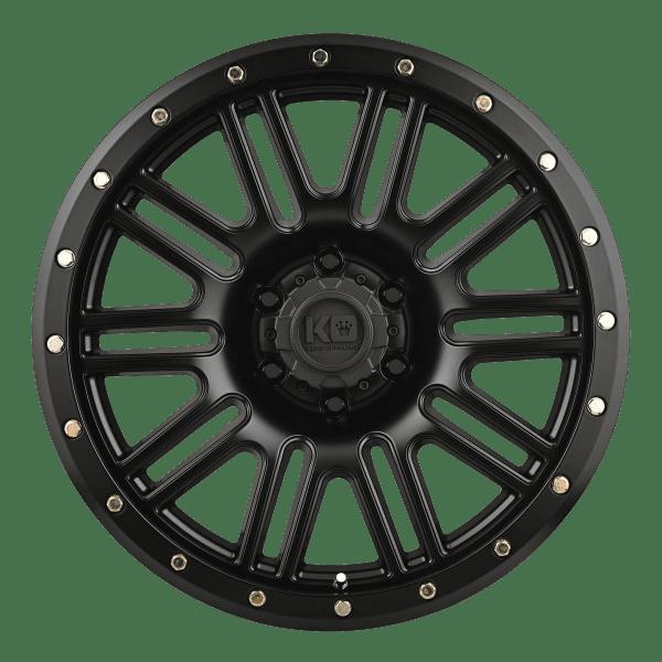 king reckless satin black wheels rims 4x4 4wd
