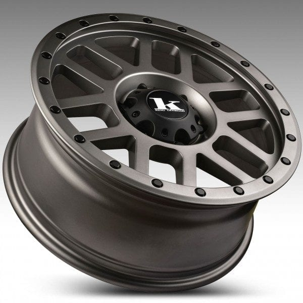 king tremor satin gunmetal grey wheels rims 4x4 4wd