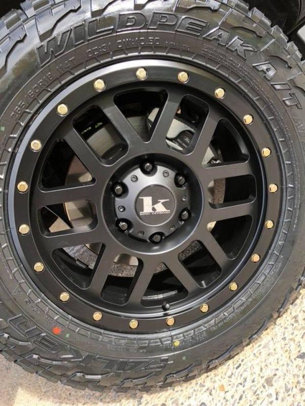 king tremor satin black wheels rims 4x4 4wd