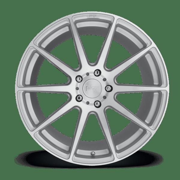 niche essen silver machined face concave wheels rims