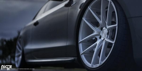 niche targa silver machined wheels rims concave