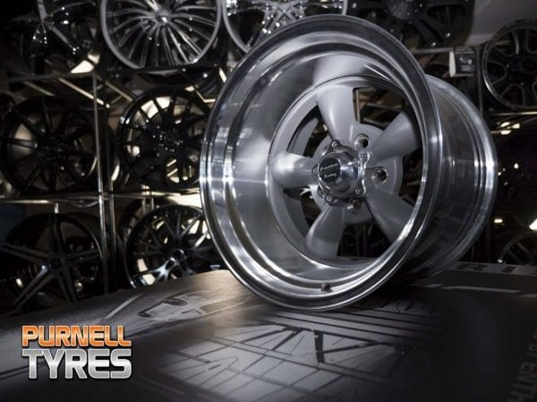 american racing vn215 torq thrust wheels rims grey muscle