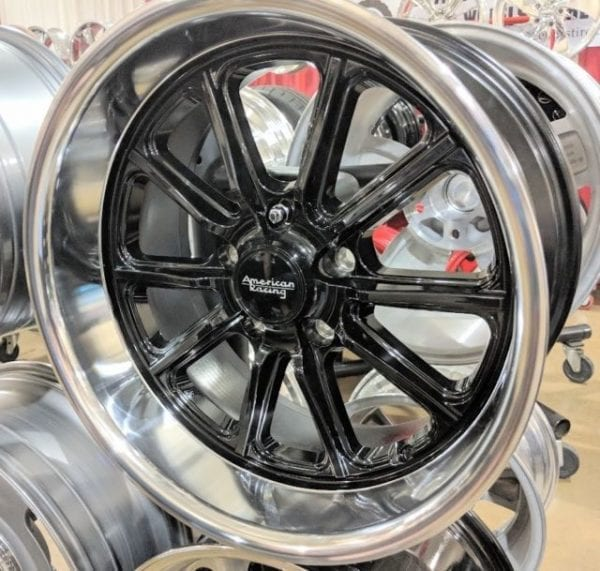 american racing vn507 rodder wheels rims muscle classic gloss black machined dish