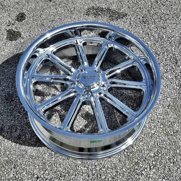 american racing vn507 rodder chrome wheels rims muscle classic