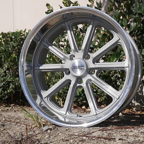 american racing vn507 rodder wheels rims muscle classic silver