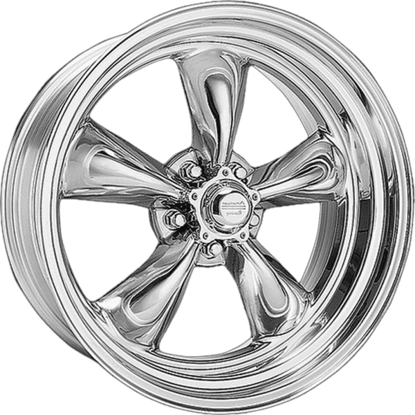 american racing vn515 torq thrust polished wheels rims 5 spoke dish