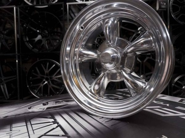 american racing vn515 torq thrust polished wheels rims 5 spoke dish