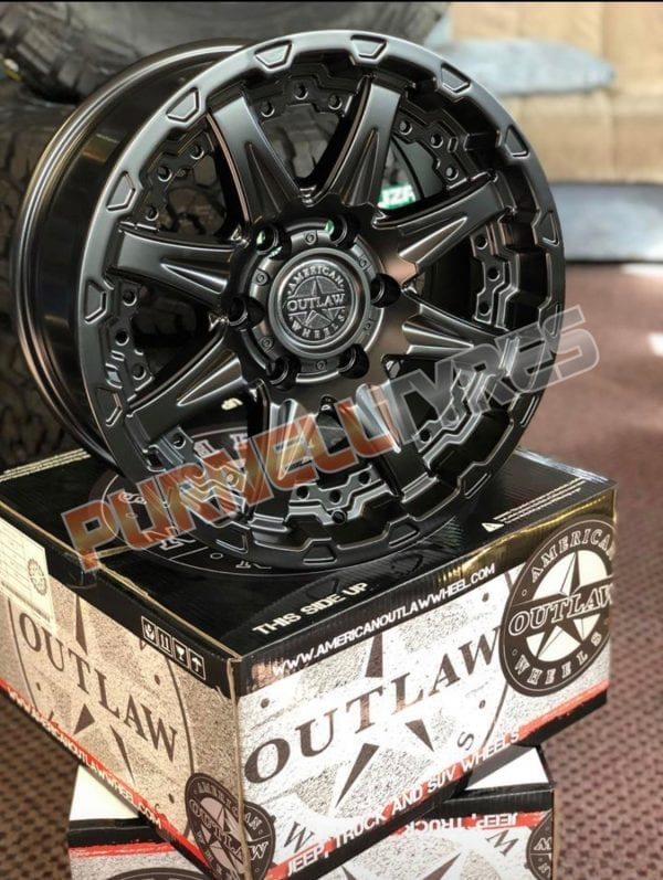 american outlaw doubleshot black wheels rims 4x4 4wd offroad