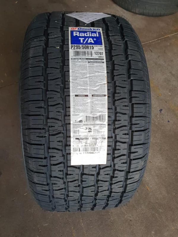 bf goodrich radial t/a ta tyres raised white lettering drag muscle car